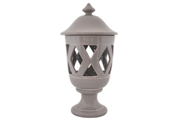 Table Lantern, Gray