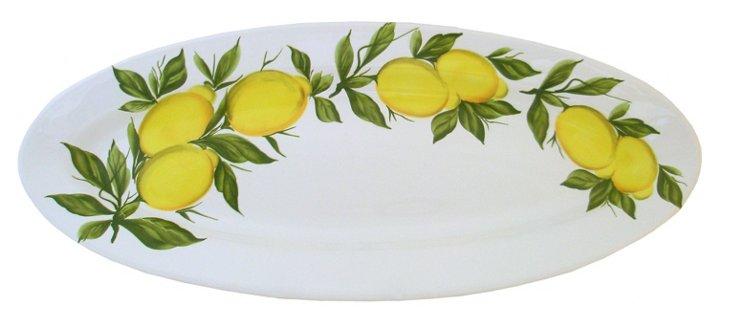 Narrow Oval Lemon Platter