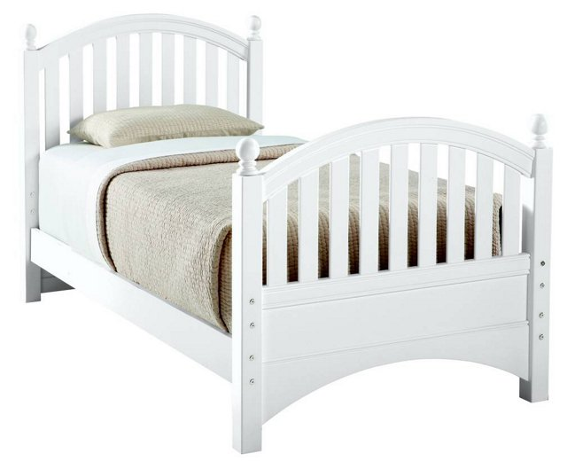 All Seasons Bunkable Bed, White, Twin