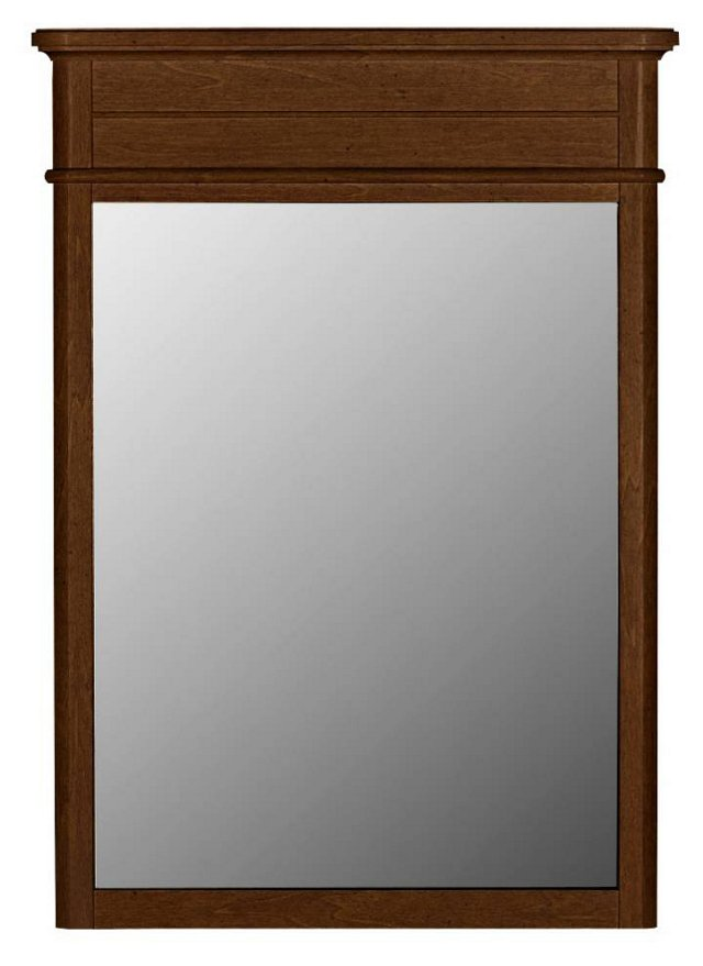 Baird Vertical Mirror, Rustic Brown
