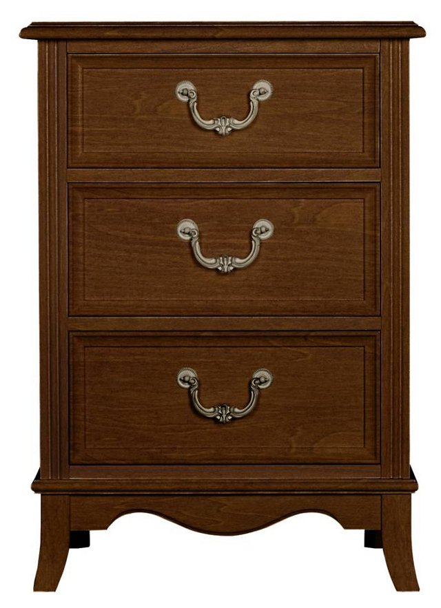 Abby 3-Drawer Nightstand, Brown