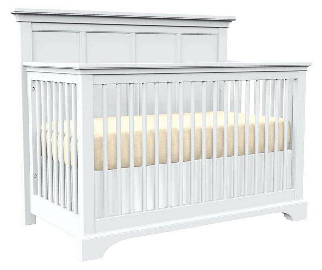 Built to Grow Lyric Crib, White
