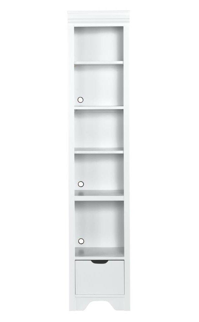 Dana Narrow Bookcase, White