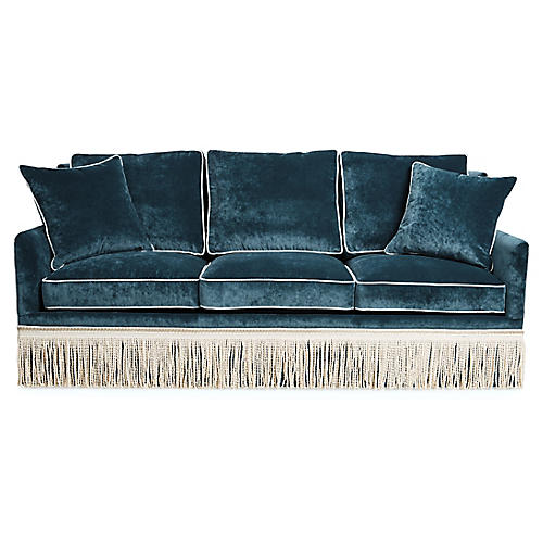 Portsmouth Sofa, Teal Velvet