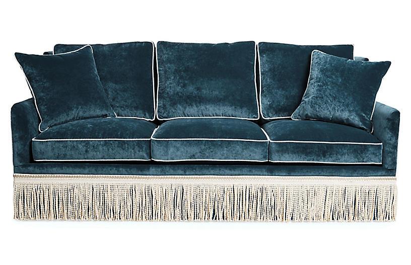 Portsmouth Sofa, Teal Velvet