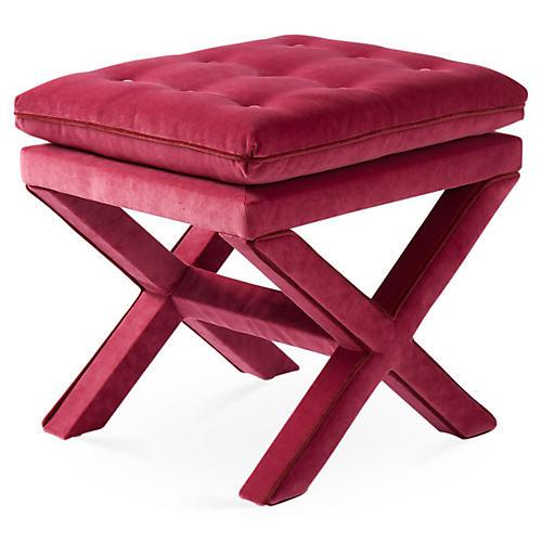 Dalton Pillow-Top Ottoman, Berry