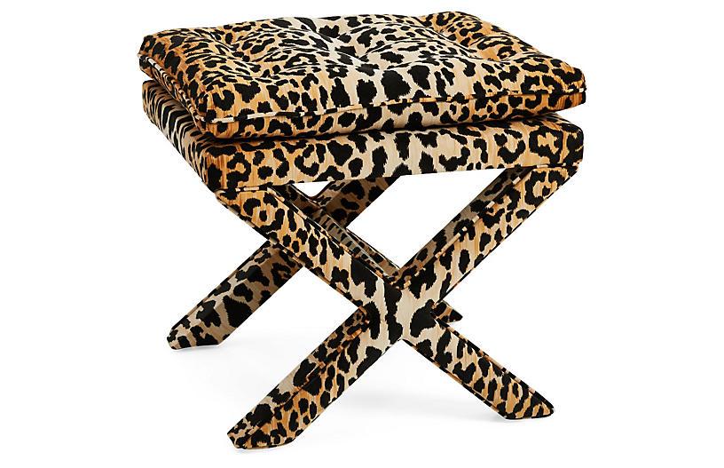 Dalton Pillow-Top Ottoman, Leopard