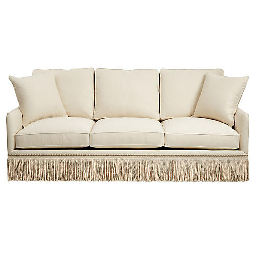 Portsmouth Sofa, Cream Linen