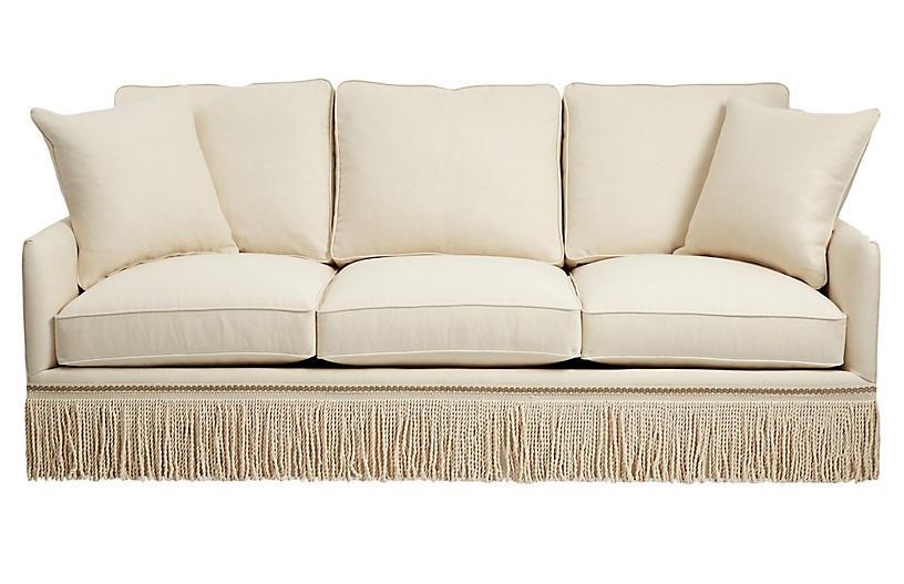 Portsmouth Sofa, Cream Linen