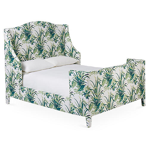 Addison Wingback Bed, Palm Leaf
