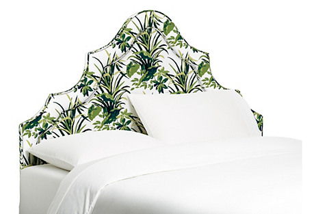 Dorset Arched Headboard, Palm Leaf