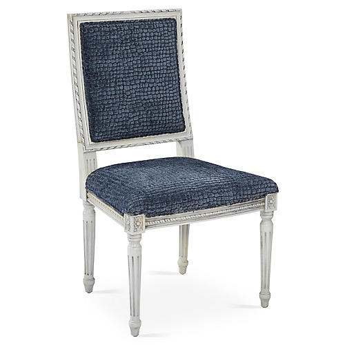 Exeter Side Chair, Steel Blue