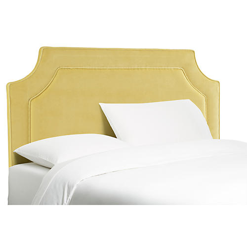 Amelia Headboard, Canary Yellow Velvet