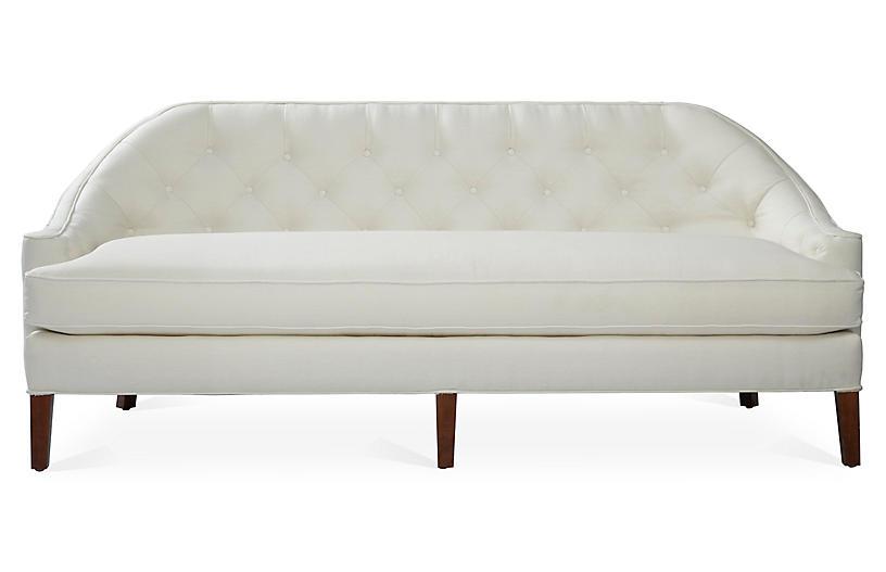 Charlotte Sofa, White Linen