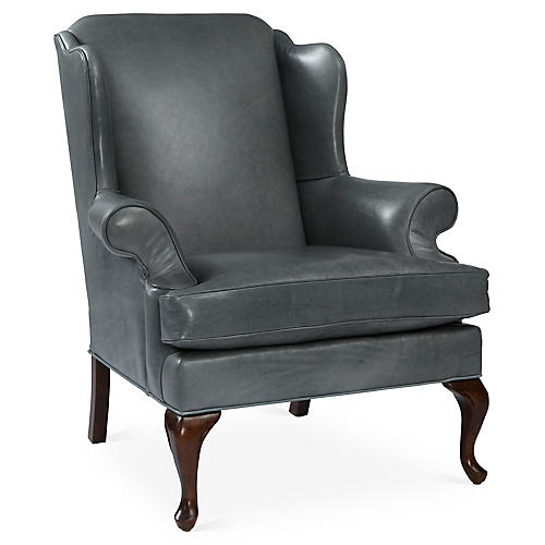 Alstead Wingback Chair, Storm Gray