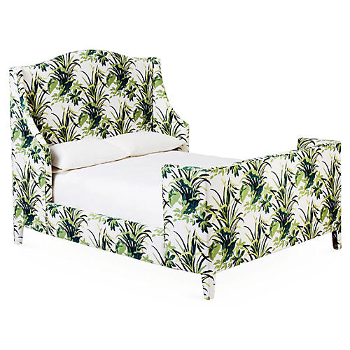 Addison Wingback Bed, Palm Leaf