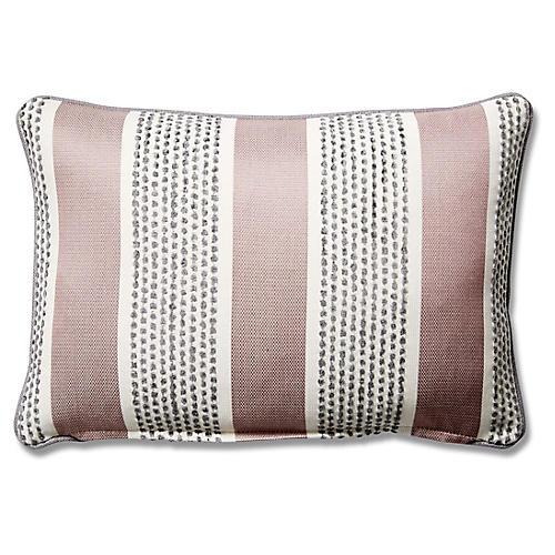 Blair 12x18 Lumbar Pillow, Mauve Stripe