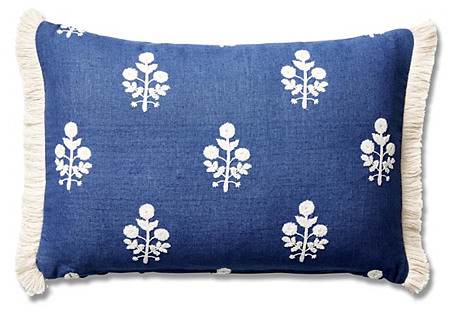 Nomi 12x18 Lumbar Pillow, Bluebell
