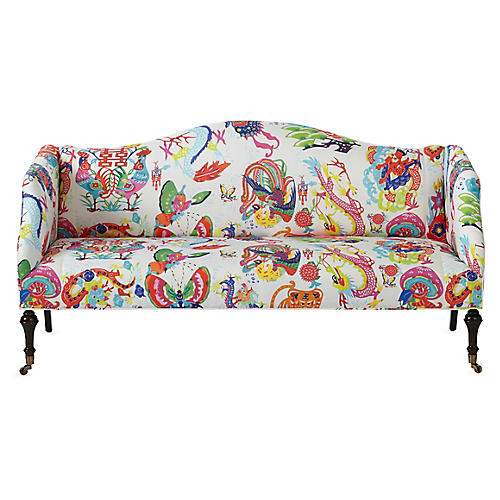 Lydia Camelback Settee, Imperial Dragon