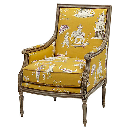 James Accent Chair, Yellow Pagoda
