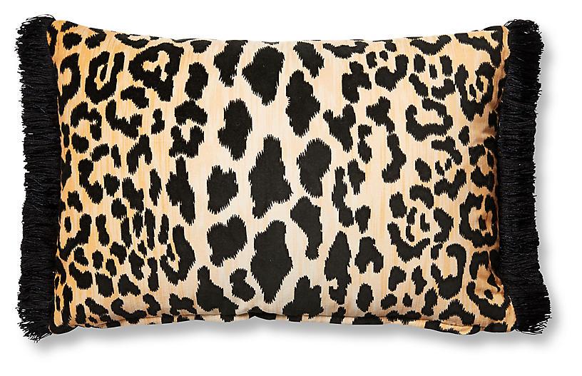 Leopard 12x18 Lumbar Pillow, Brown/Black