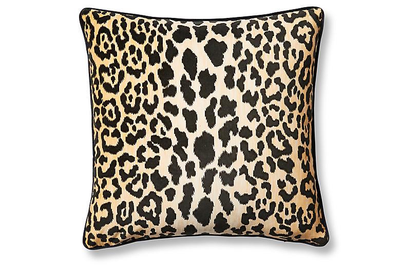 Leopard 19x19 Pillow, Brown/Black