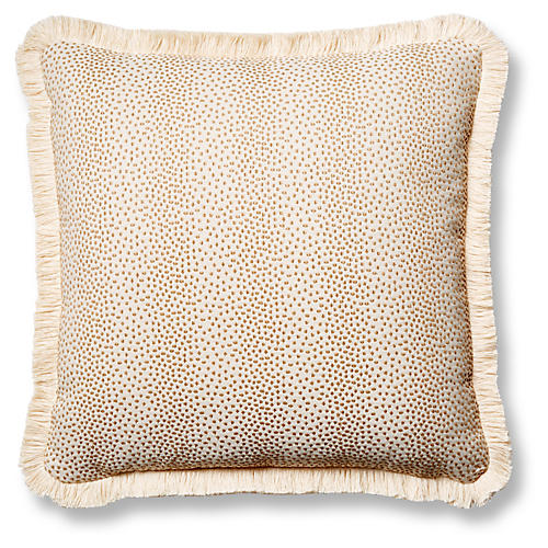 Imogen 19x19 Pillow, Beige Dots