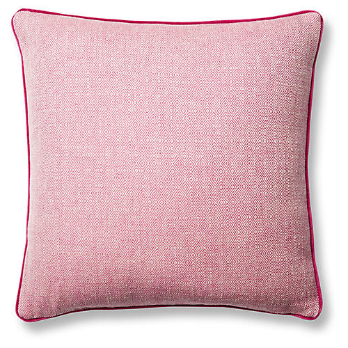 Marietta 19x19 Pillow, Pink Geo/Berry