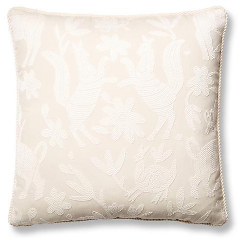 Fauna 19x19 Pillow, Ivory