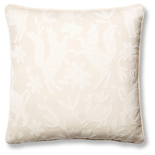 Fauna 19x19 Pillow, Ivory
