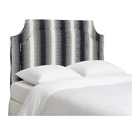 Amelia Headboard, Navy Deco Stripe