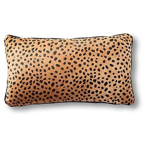 Calla 12x23 Lumbar Pillow, Cheetah Hair-On Hide