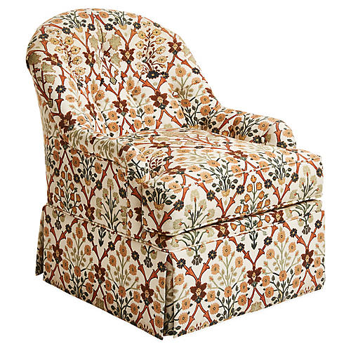 Marlowe Swivel Chair, Ivory