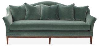 Eloise Camelback Sofa, Jade Velvet   One Kings Lane   Brands | One Kings  Lane