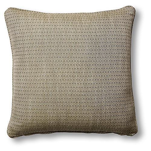 Hedera 19x19 Pillow, Moss/Cream