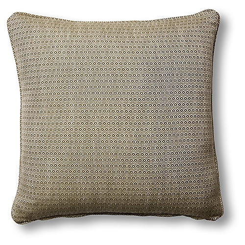 Hedera 19x19 Pillow, Moss/Cream