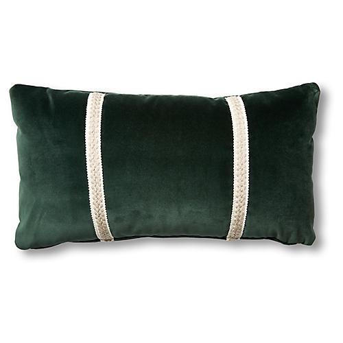 Mallory 12x23 Lumbar Pillow, Forest Velvet