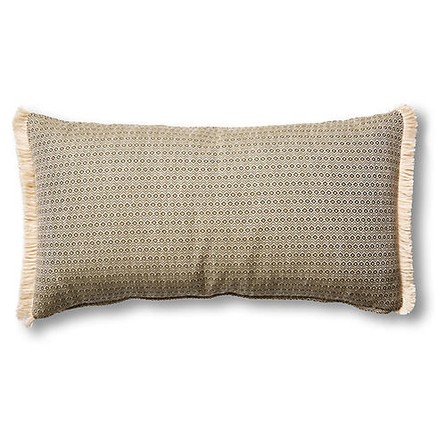 Hedera 12x23 Lumbar Pillow, Moss/Cream