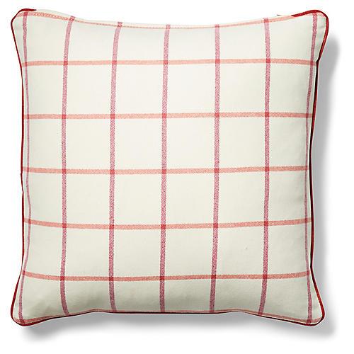 Morgan 19x19 Pillow, Ivory/Currant