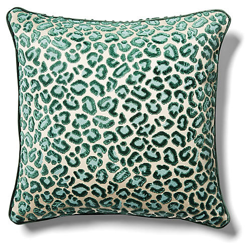 Valencia Pillow, Emerald Velvet