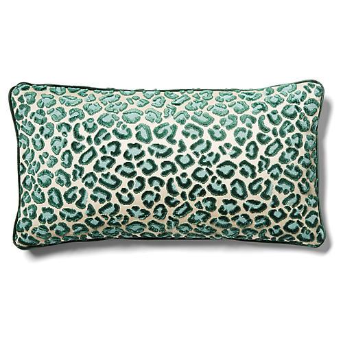 Valencia 12x23 Lumbar Pillow, Emerald Velvet