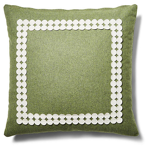 Holly 19x19 Pillow, Fern