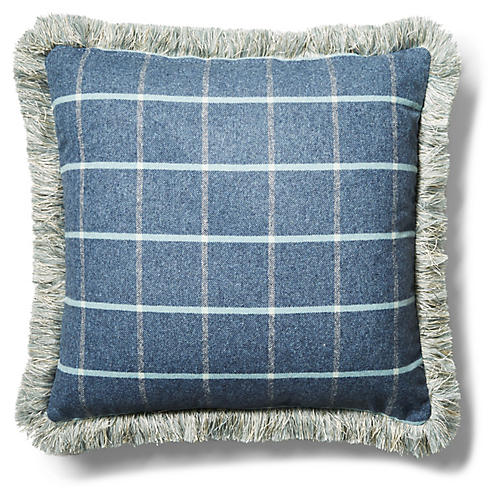 Knox 19x19 Pillow, Denim/Sky