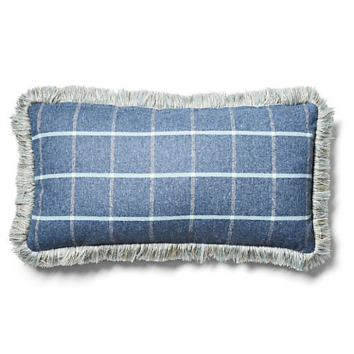 Knox 12x23 Lumbar Pillow, Denim/Sky