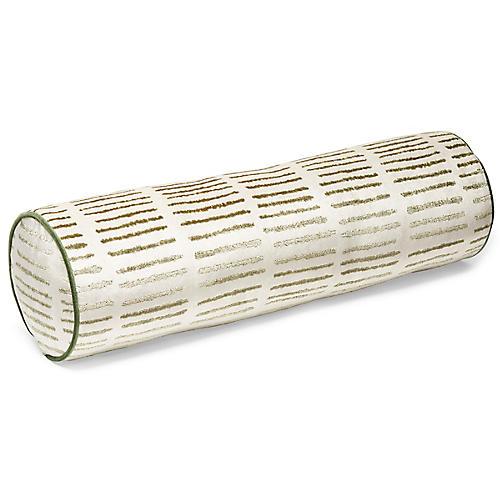 Enna 7x27 Bolster Pillow, Fern/Ivory