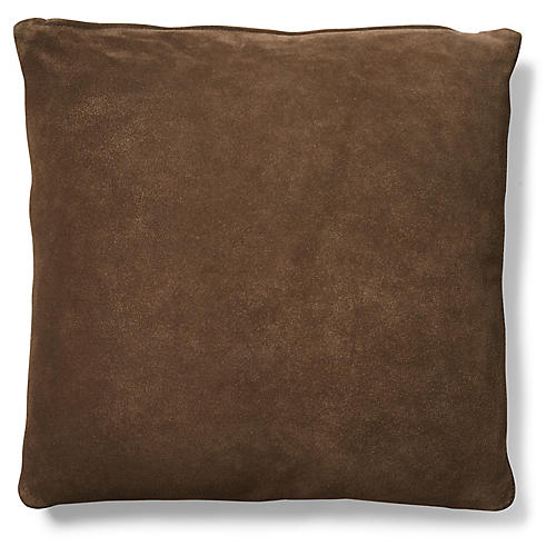 Milos 19x19 Pillow, Cocoa Suede