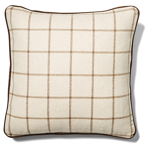 Aston 19x19 Pillow, Cashew/Cocoa