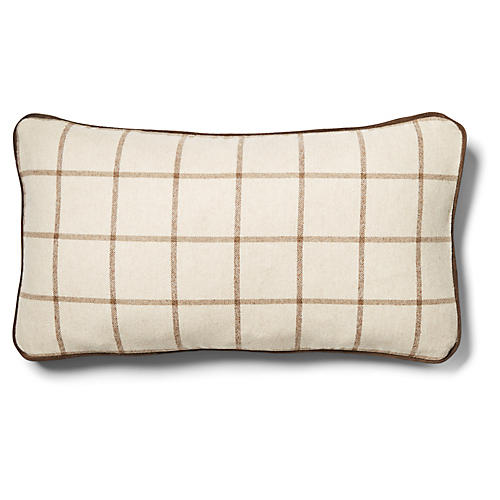 Aston 12x23 Lumbar Pillow, Cashew/Cocoa