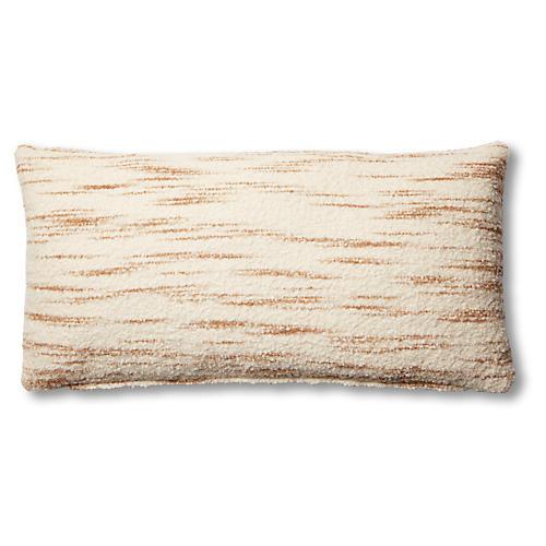 Efa 14x28 Lumbar Pillow, Cream/Latte