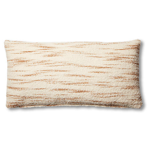Efa 14x28 Lumbar Pillow, Cream/Latte
